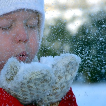 Kids love snow play outdoors in the fresh mountain air!