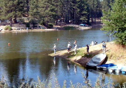 Green valley lake for swimming fishing and boating for Lake arrowhead fishing